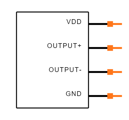 ICS-40619 Symbol