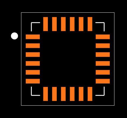 MPU-6050 footprint & symbol by TDK InvenSense | SnapEDA