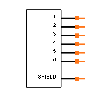 RJ11-6LC1-B Symbol