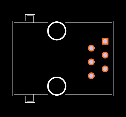 RJ11-6N-B Footprint