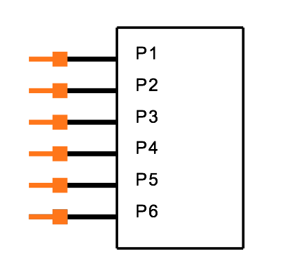 RJ11-6N-B Symbol