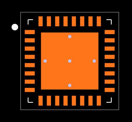 CC1200RHBR Footprint