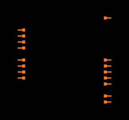 CD74HC4051PWR Symbol