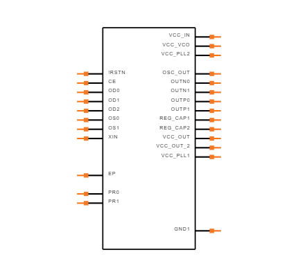 CDCM61002RHBR Symbol