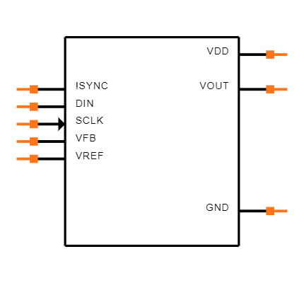 DAC8551IADGKR Symbol