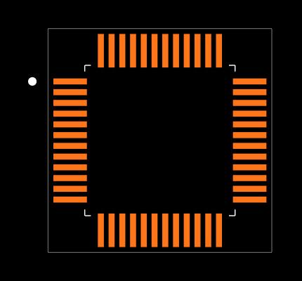 DP83848IVV/NOPB Footprint