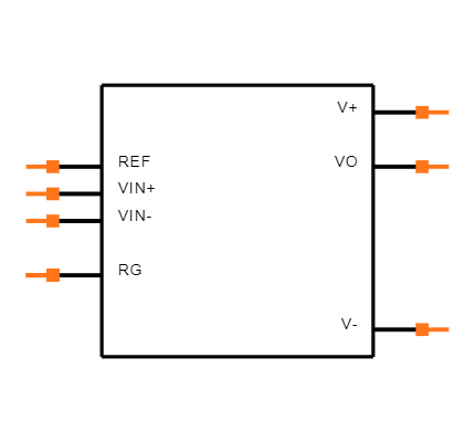 INA129MDREP Symbol