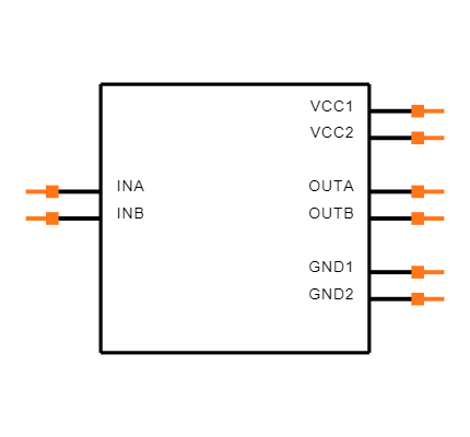 ISO7421FEDR Symbol