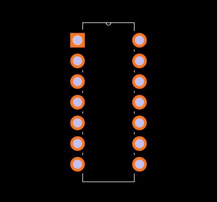 LM139J/PB Footprint