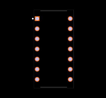 LM324N/NOPB Footprint