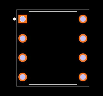 LM358N/NOPB Footprint