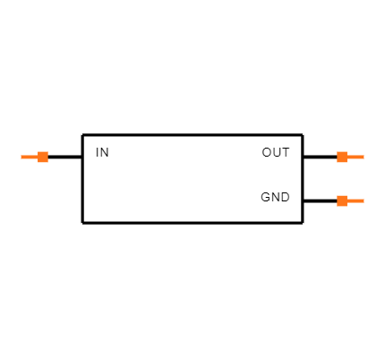 LM7805CT/NOPB Symbol