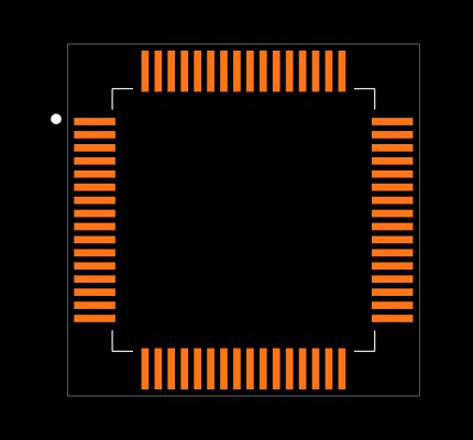MSP430F2618TPMR Footprint