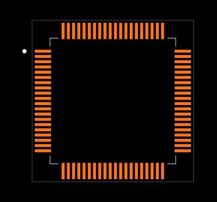 MSP430F2618TPNR Footprint