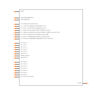 MSP430G2553IPW28R Symbol