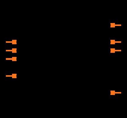 NE555 footprint & symbol by Texas Instruments | SnapEDA