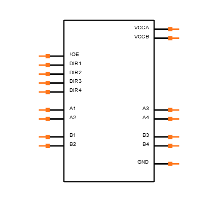 SN74AVC4T774PWR Symbol