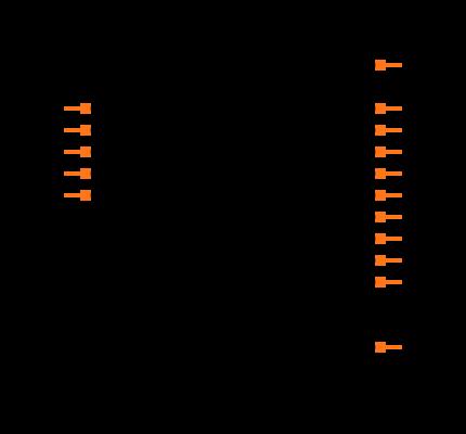 SN74HC259DR Symbol