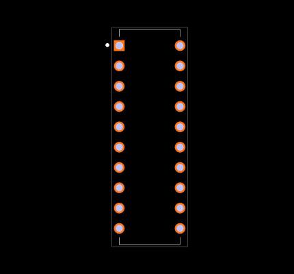 SN74HC540N Footprint