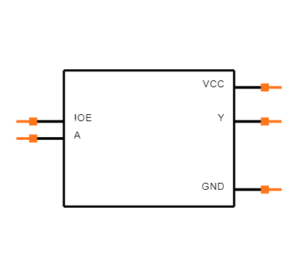 SN74LVC1G125DCKT Symbol