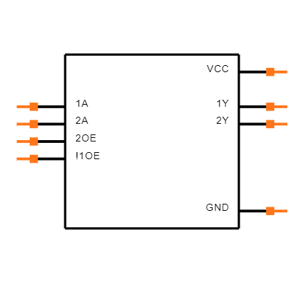 SN74LVC2G241DCUR Symbol