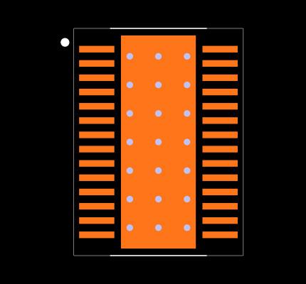 TLC59401PWPR Footprint
