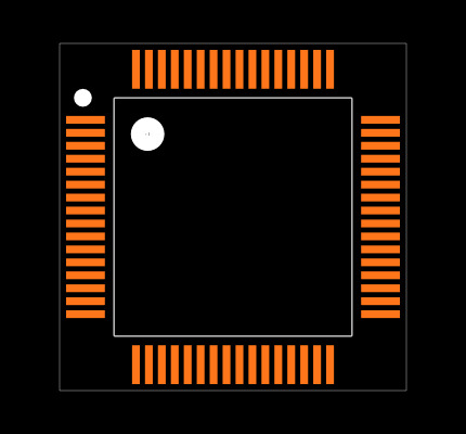 TM4C123GH6PMT Footprint