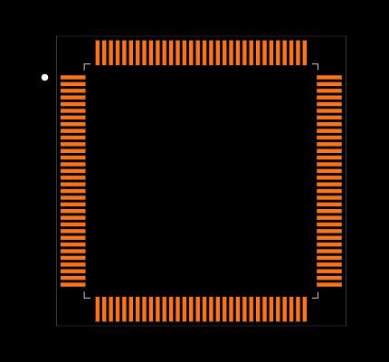 TM4C1290NCPDTI3R Footprint