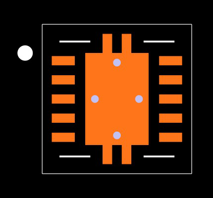 TPS61200DRCT Footprint