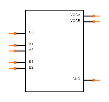 TXS0102DCUR Symbol