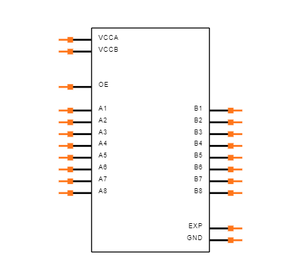 TXS0108ERGYR Symbol
