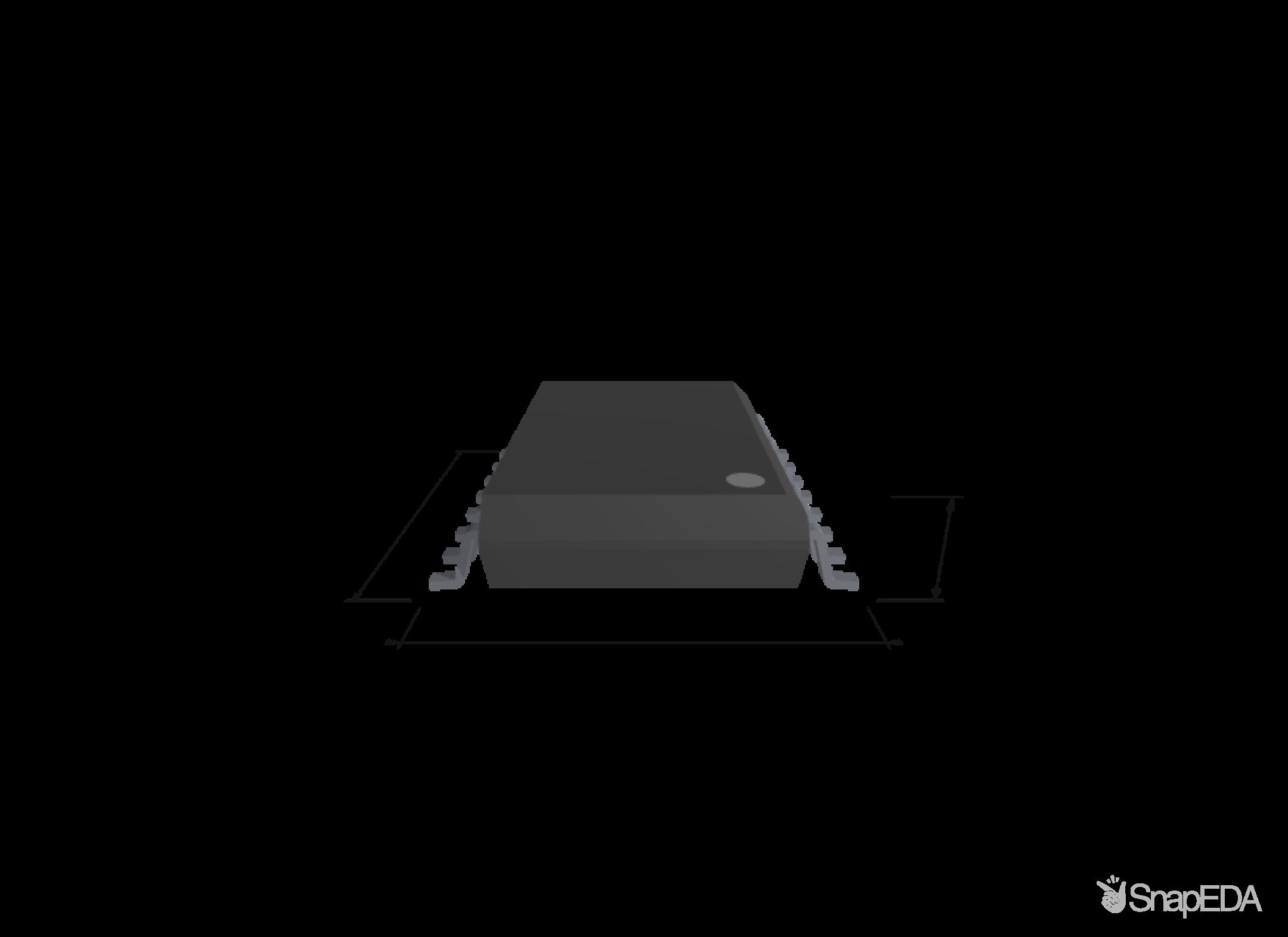 UCC21520DWR 3D Model