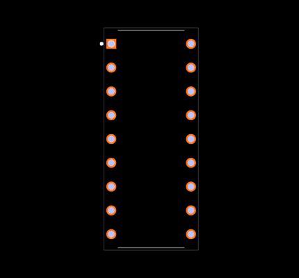 ULN2803AP Footprint