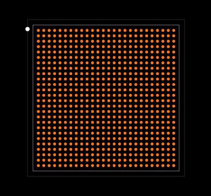 XC7K70T-1FBG676C Footprint