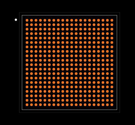 XC7Z020-1CLG400C Footprint