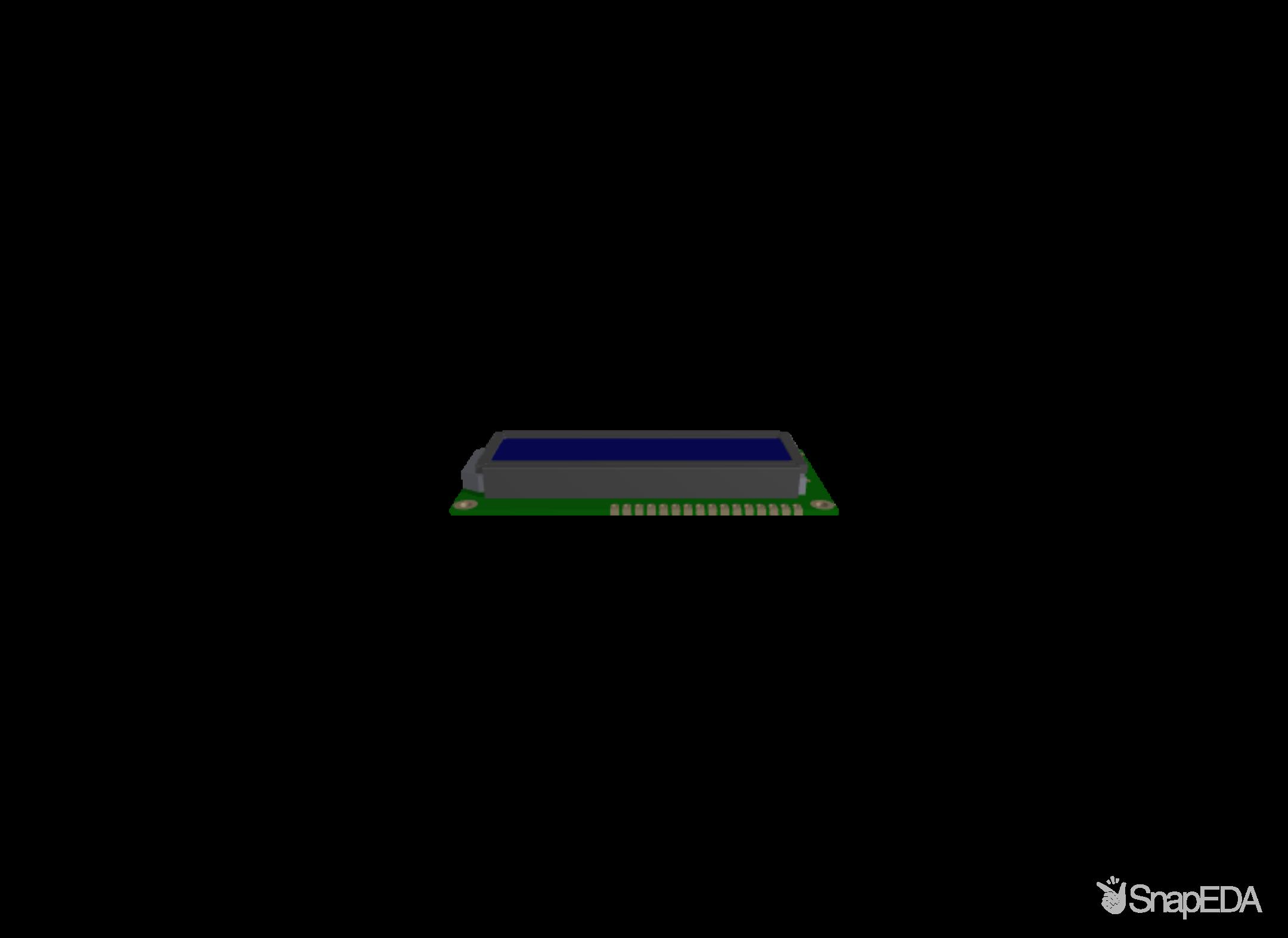 LCD2X16 3D Model