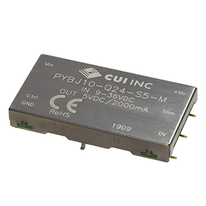 Power Products Voltage Converters, Inverters, Transformers DC-DC Converters PYBJ10-Q24-S15-M by CUI