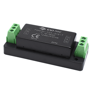 Power Products Voltage Converters, Inverters, Transformers DC-DC Converters PQAE50-D24-S12-T by CUI
