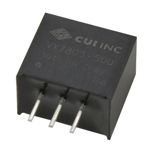 Power Products Voltage Converters, Inverters, Transformers DC-DC Converters VX7805-500 by CUI
