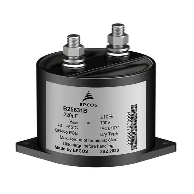 Passive Components Capacitors Film Capacitors B25631B0127K800 by EPCOS - TDK Electronics