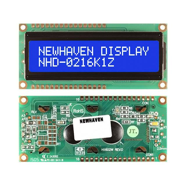 Industrial Control Panel Instrumentation Electronic Displays Character-Message Displays LCD Character Displays and Modules Displays NHD-0216K1Z-NSW-BBW-L by Newhaven Display Intl