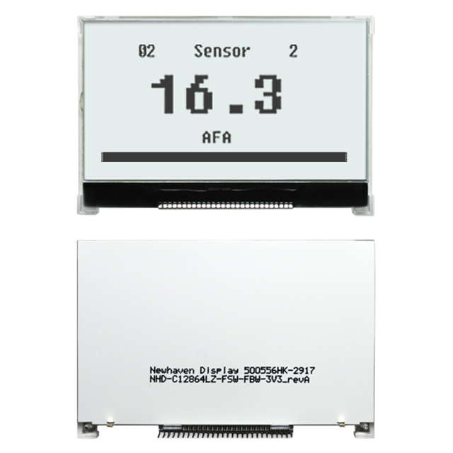 Indicators and Displays Electronic Displays Graphic Displays NHD-C12864LZ-FSW-FBW-3V3 by Newhaven Display Intl