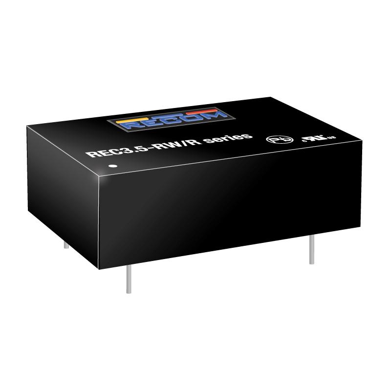 Semiconductors Power Management DC - DC Converters REC3.5-1212SRW/R10/A by Recom Power