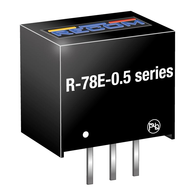 Semiconductors Power Management DC - DC Converters R-78E3.3-0.5 by Recom Power