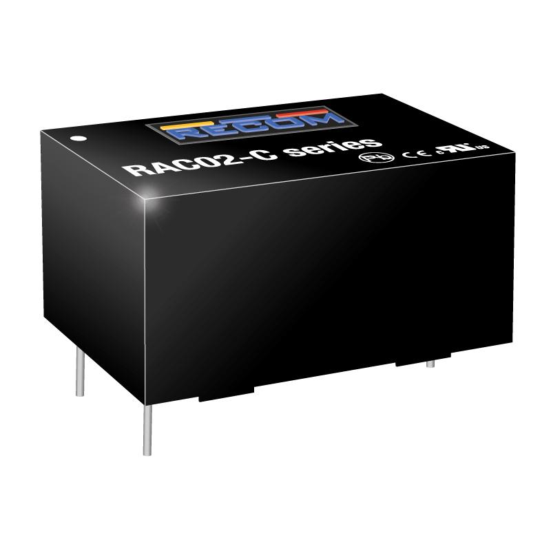 Semiconductors Power Management DC - DC Converters RAC02-24SC by Recom Power