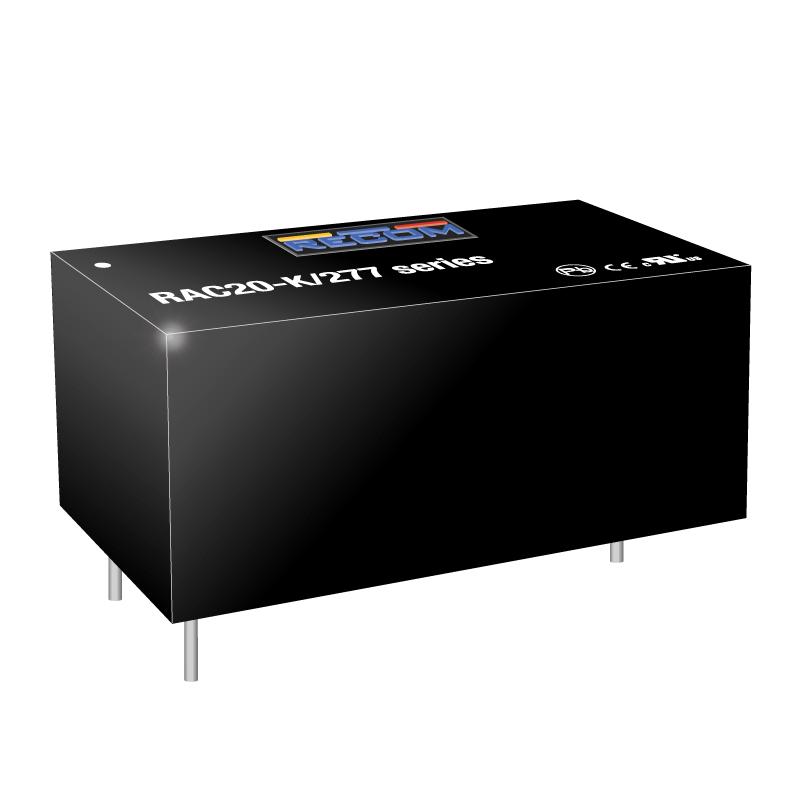 Semiconductors Analog to Digital, Digital to Analog  Converters RAC20-15DK/277 by Recom Power