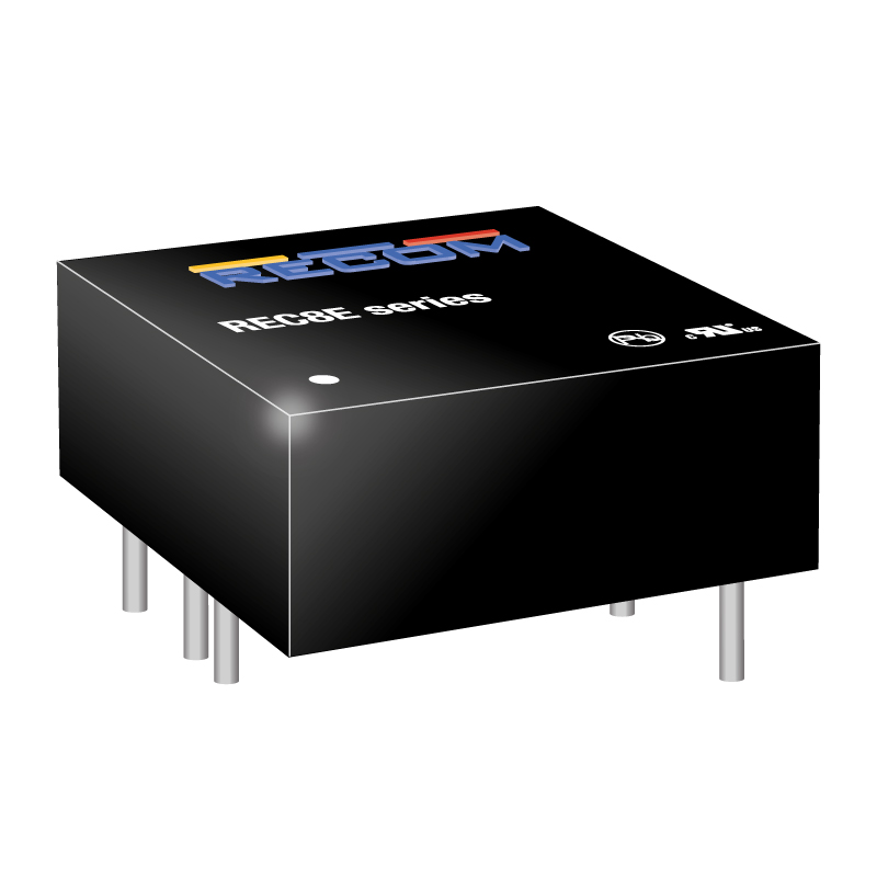 Power Products Voltage Converters, Inverters, Transformers DC-DC Converters REC8E-1224S/CTRL/X1 by Recom Power