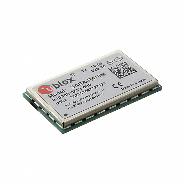 Semiconductors RF Modules Receivers SARA-R410M-02B by U-Blox America Inc.